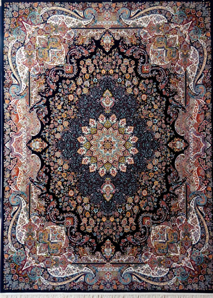 فرش پرشین مشهد طرح 25015 سورمه ای
