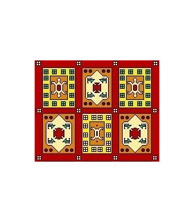 نخ و نقشه فرش درشت باف کد 5