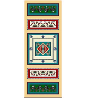 نخ و نقشه فرش درشت باف کد 6