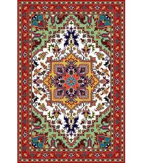 نخ و نقشه فرش درشت باف کد 21