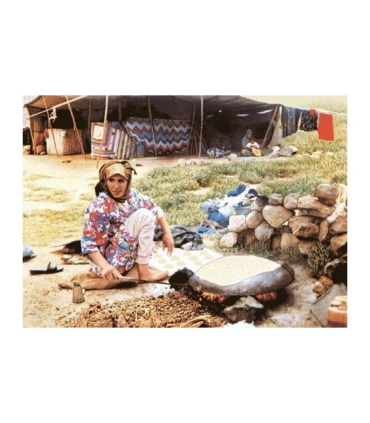نخ و نقشه تابلو فرش ایرانی کد-24 نان پز