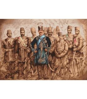 نخ و نقشه تابلو فرش ایرانی کد 28- شاه قاجار