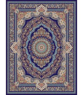 فرش مشهد طرح 708008 سورمه ای
