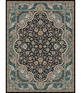 فرش مشهد طرح 722035 سورمه ای
