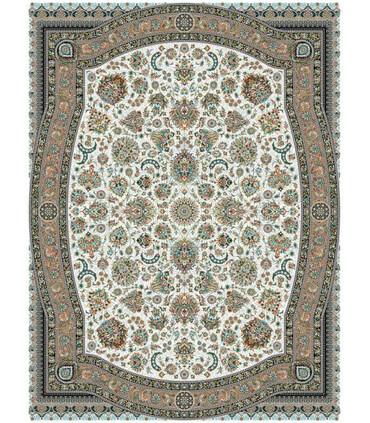 فرش ماشینی مشهد طرح 802025 کرم