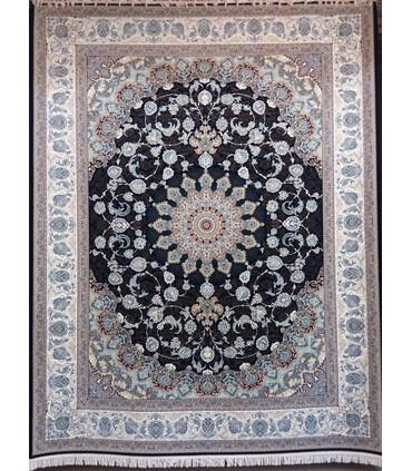فرش ماشینی پرشین مشهد طرح 36002 سورمه ای