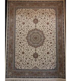 فرش پرشین مشهد طرح 36004 کرم حاشیه گردویی