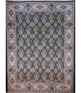 فرش پرشین مشهد طرح 36006 سورمه ای