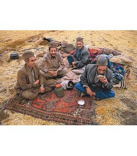 نخ و نقشه تابلو فرش ایرانی کد 33- مردان عشایر