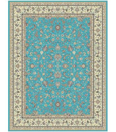فرش ماشینی پاتریس طرح اصفهان آبی