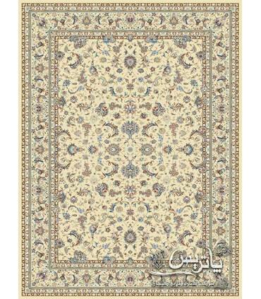فرش ماشینی پاتریس طرح اصفهان کرم