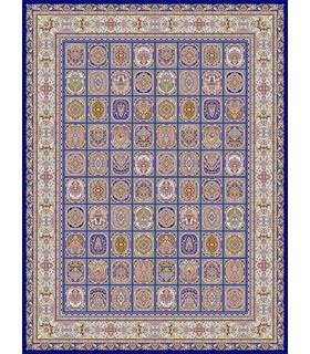 فرش قالی سلیمان طرح ماهرنگ آبی