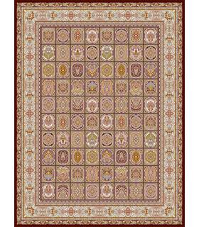 فرش قالی سلیمان طرح ماهرنگ قهوه ای