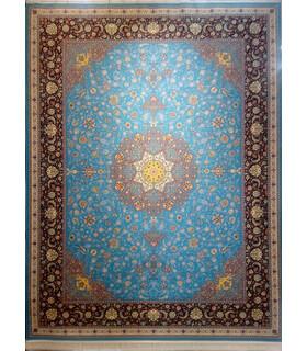 قالی سلیمان طرح صفویه آبی
