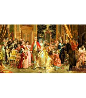 نخ و نقشه تابلو فرش طرح فرانسوی جشن سزار