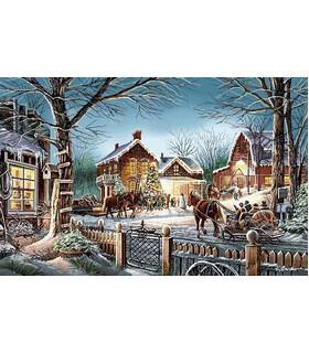 نخ و نقشه تابلو فرش طرح کریسمس