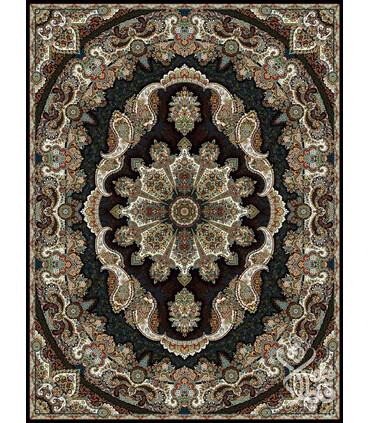 فرش ماشینی قیطران طرح آوینا سورمه ای