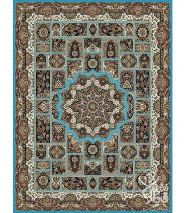 فرش ماشینی قیطران طرح نازنین فیروزه ای