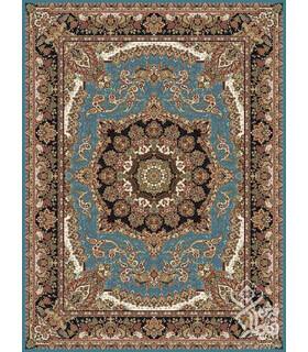 فرش ماشینی قیطران طرح آناهید فیروزه ای