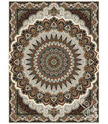 فرش ماشینی قیطران طرح سمن کرم