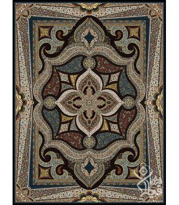 فرش ماشینی قیطران طرح زهره سورمه ای