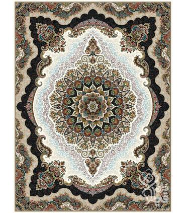 فرش ماشینی قیطران طرح رومیسا کرم