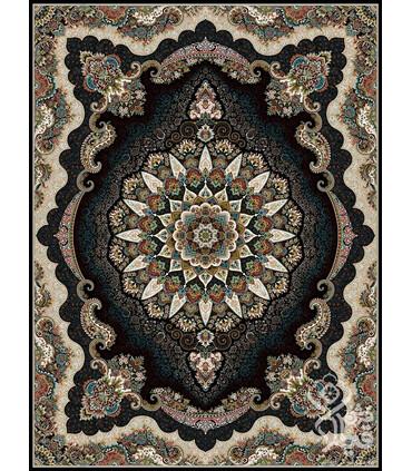 فرش ماشینی قیطران طرح رومیسا سورمه ای
