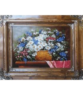 تابلوفرش دستباف طرح گل های خانوم مورگان