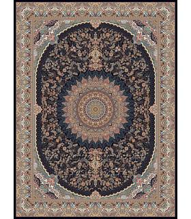فرش ماشینی زمرد مشهد طرح 18139 سورمه ای