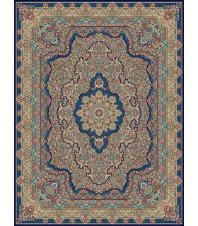 فرش مشهد طرح 85121 سورمه ای