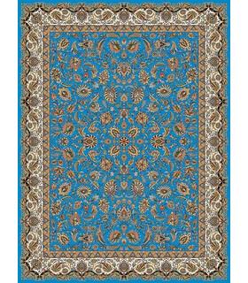 فرش مشهد طرح 801030 آبی