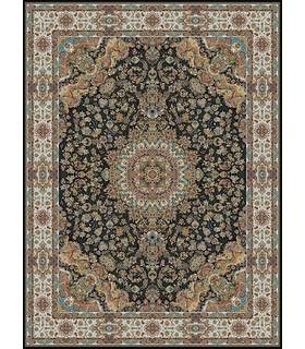 فرش مشهد طرح 802001 سورمه ای