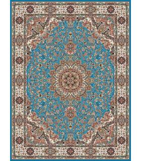 فرش مشهد طرح 802001 آبی