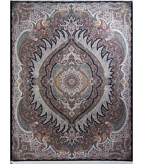 فرش زمرد مشهد طرح 36002 سورمه ای