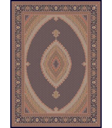 فرش ماشینی زمرد مشهد طرح 14016 سورمه ای