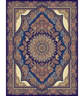 فرش مشهد طرح 85135 سورمه ای