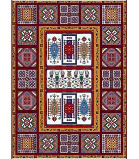 نخ و نقشه فرش درشت باف کد 46