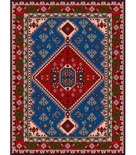 نخ و نقشه فرش درشت باف کد 47
