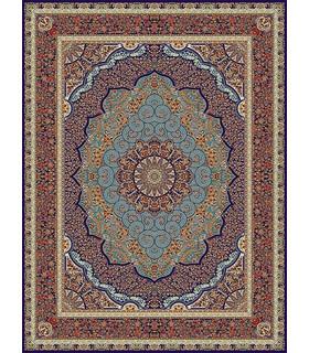 فرش مشهد طرح 702069 سورمه ای