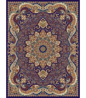 فرش مشهد طرح 702080 سورمه ای