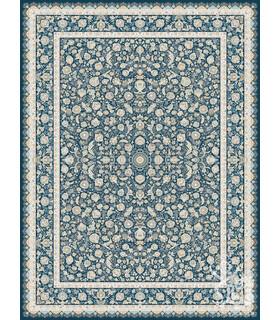 فرش ماشینی قیطران طرح آبتین سورمه ای