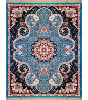 فرش ماشینی کاشان طرح المیرا آبی