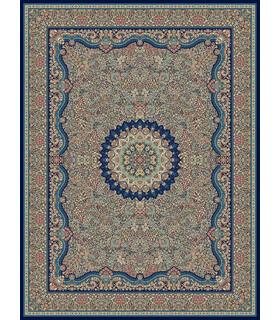 فرش مشهد طرح 87100 سورمه ای