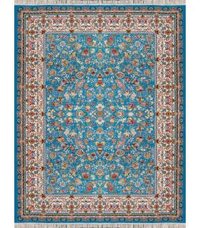 فرش مشهد طرح 802038 آبی