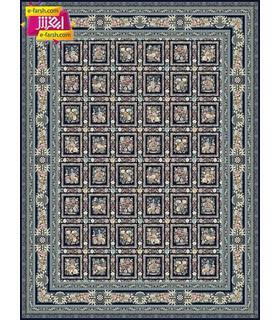 فرش ماشینی مشهد طرح 815008 سورمه ای