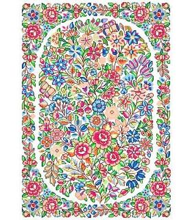 نخ و نقشه فرش درشت باف کد 34