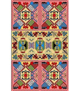 نخ و نقشه فرش درشت باف کد 8
