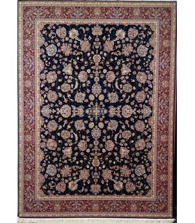 فرش زمرد مشهد طرح 25010 سورمه ای