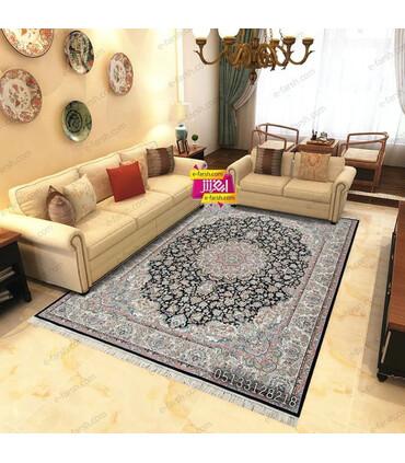 فرش ماشینی مشهد طرح 802032 سورمه ای