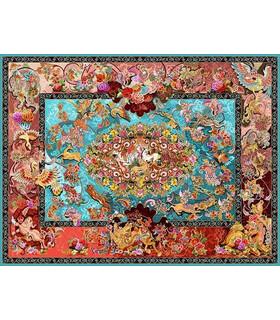 نخ و نقشه فرش تمام ابریشم کد 22